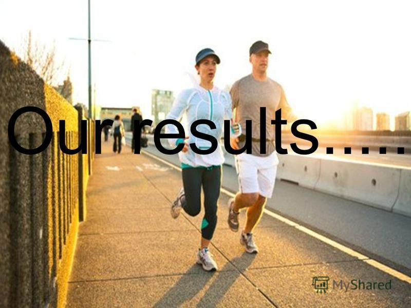 Our results.....