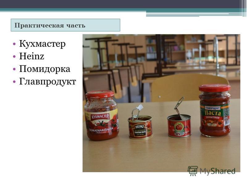 Практическая часть Кухмастер Heinz Помидорка Главпродукт
