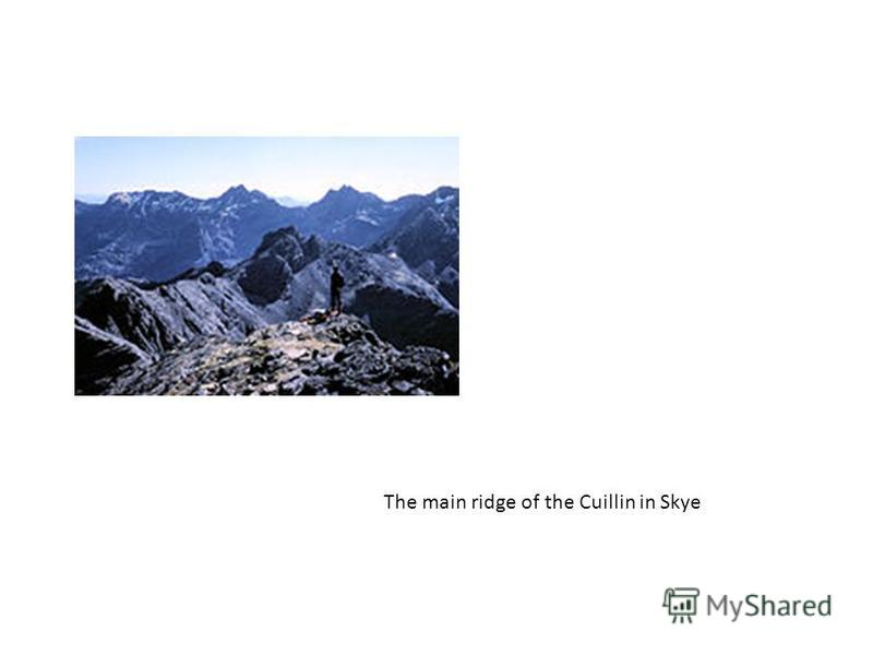 The main ridge of the Cuillin in Skye