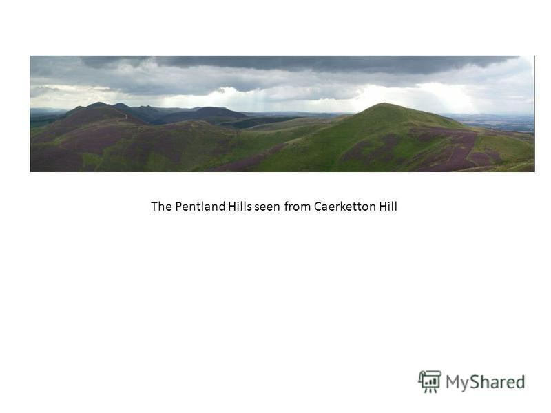 The Pentland Hills seen from Caerketton Hill