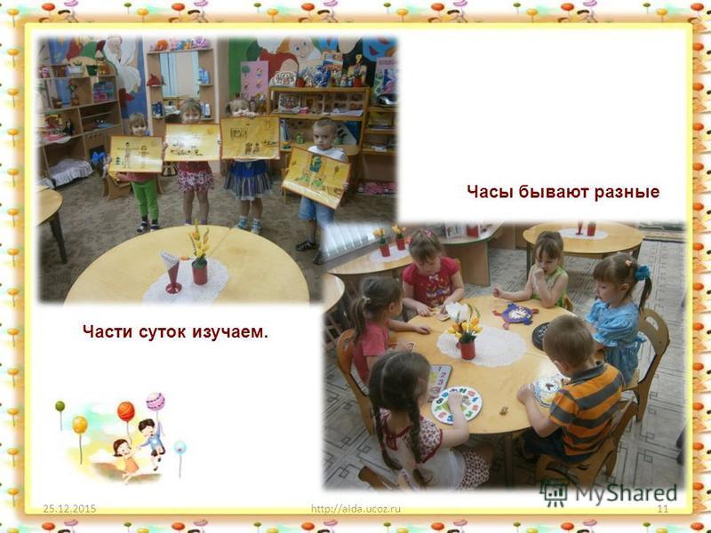 25.12.2015http://aida.ucoz.ru11 Части суток изучаем. Часы бывают разные