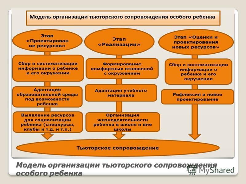 Модель организации тьюторского сопровождения особого ребенка