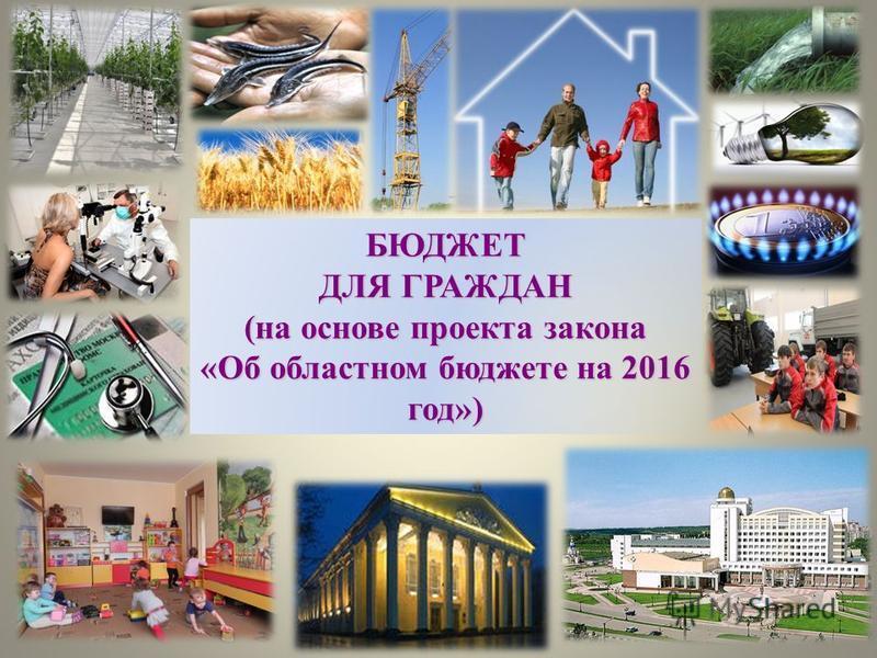 БЮДЖЕТ ДЛЯ ГРАЖДАН (на основе проекта закона «Об областном бюджете на 2016 год»)