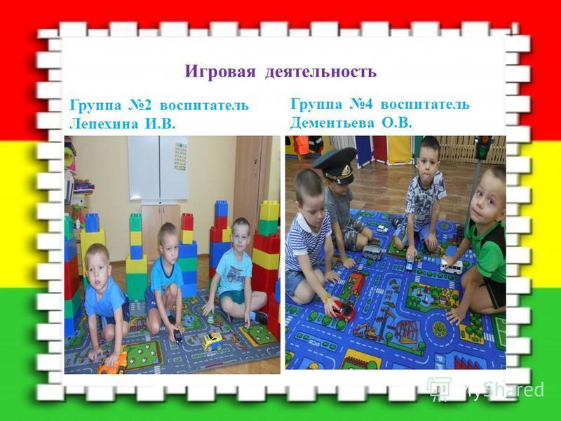 Игровая деятельность Группа 2 воспитатель Лепехина И.В. Группа 4 воспитатель Дементьева О.В.