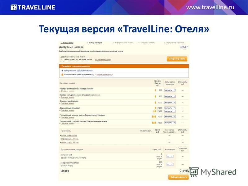 Текущая версия «TravelLine: Отеля»