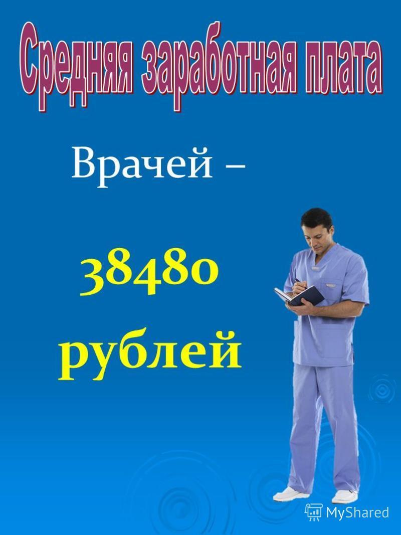 Врачей – 38480 рублей