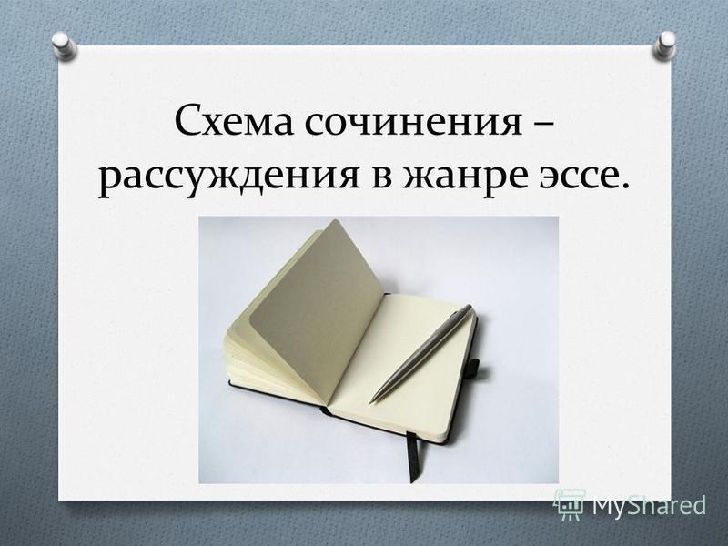 Схема сочинения – рассуждения в жанре эссе.