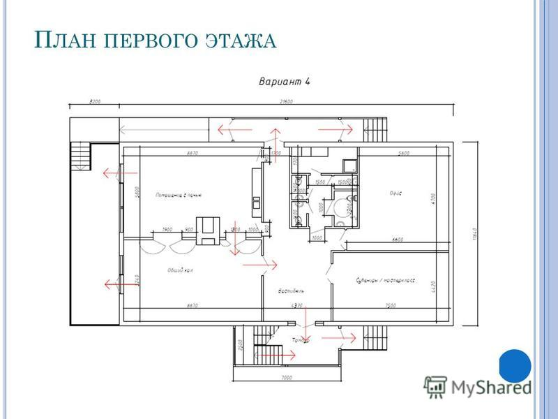 П ЛАН ПЕРВОГО ЭТАЖА