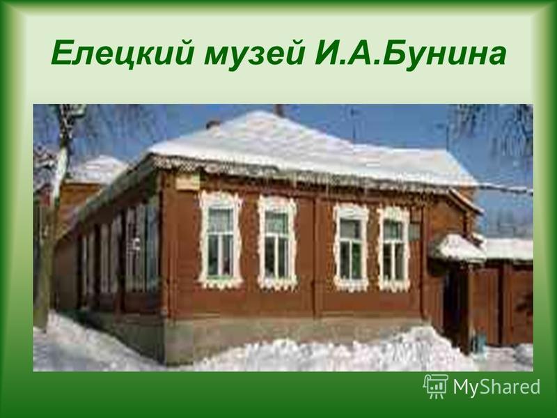Елецкий музей И.А.Бунина