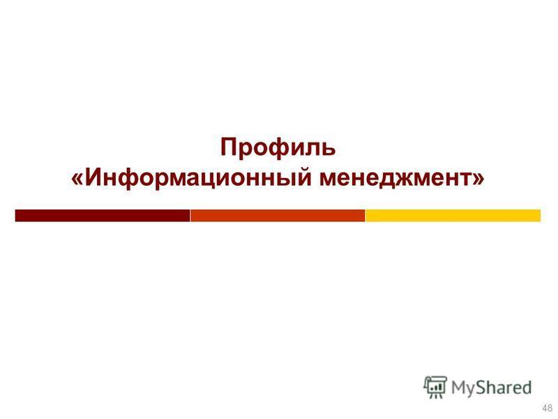 Профиль «Информационный менеджмент» 48