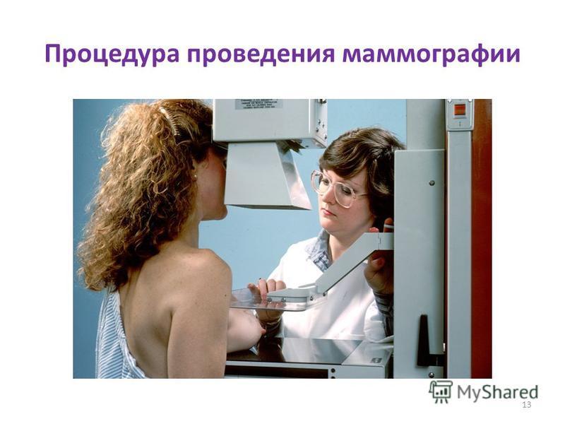 Процедура проведения маммографии 13