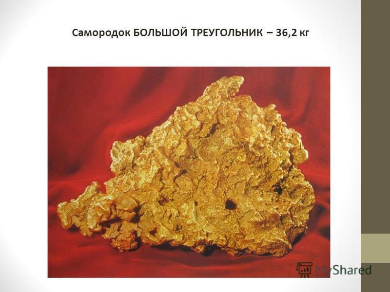 Самородок БОЛЬШОЙ ТРЕУГОЛЬНИК – 36,2 кг