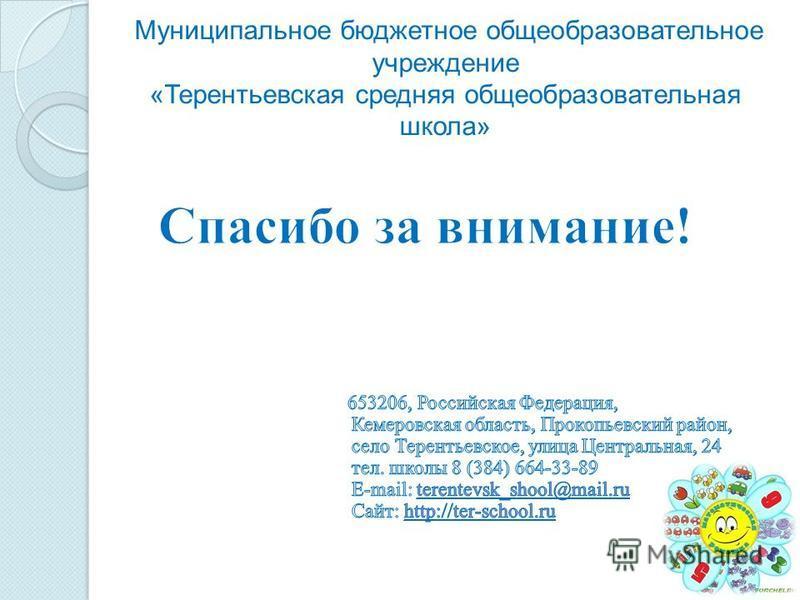 Муниципальное бюджетное общеобразовательное учреждение «Терентьевская средняя общеобразовательная школа»