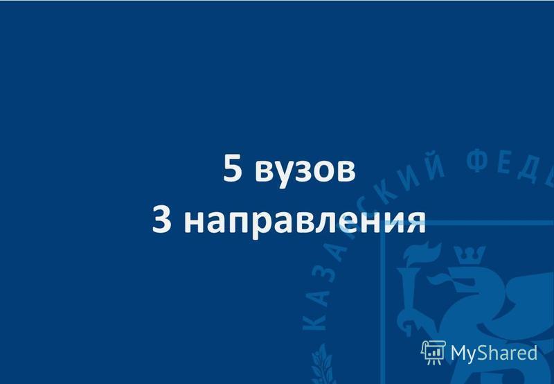 5 вузов 3 направления