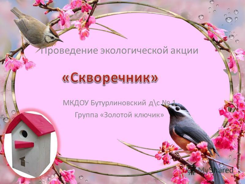 Проведение экологической акции МКДОУ Бутурлиновский д\с 1 Группа «Золотой ключик»