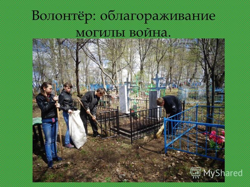 Волонтёр: облагораживание могилы война.
