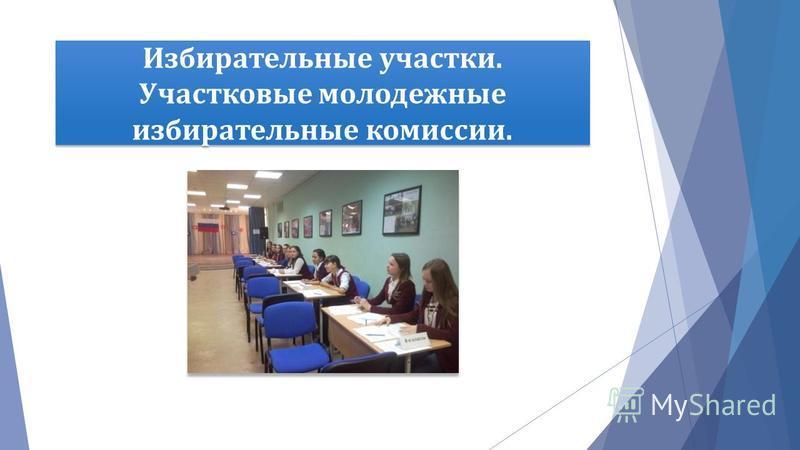 Избирательные участки. Участковые молодежные избирательные комиссии.