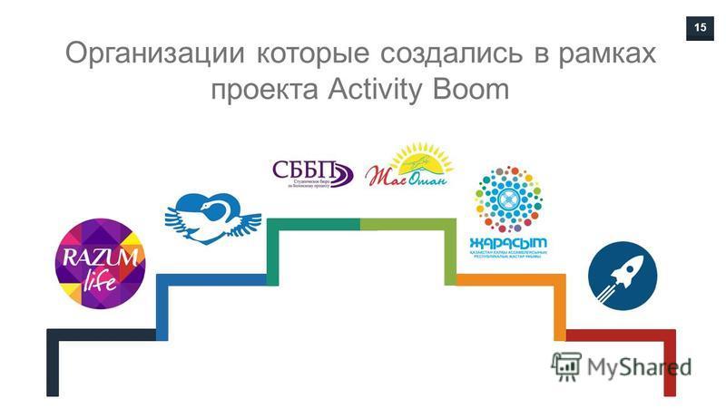 15 Организации которые создались в рамках проекта Activity Boom