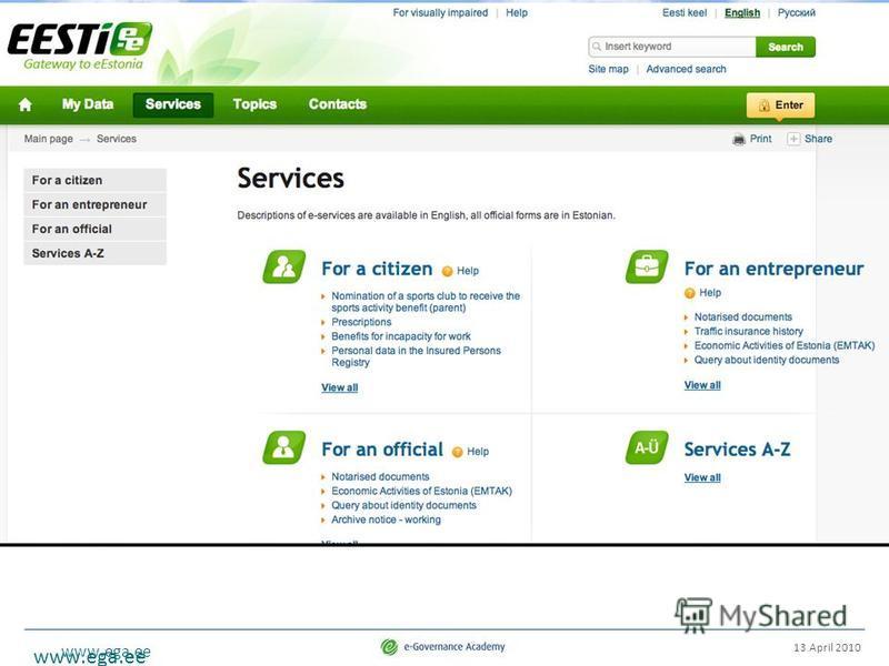 www.ega.ee 13 April 2010 www.ega.ee