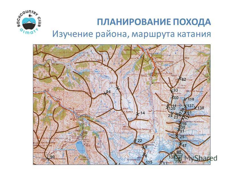 Изучение района, маршрута катания ПЛАНИРОВАНИЕ ПОХОДА