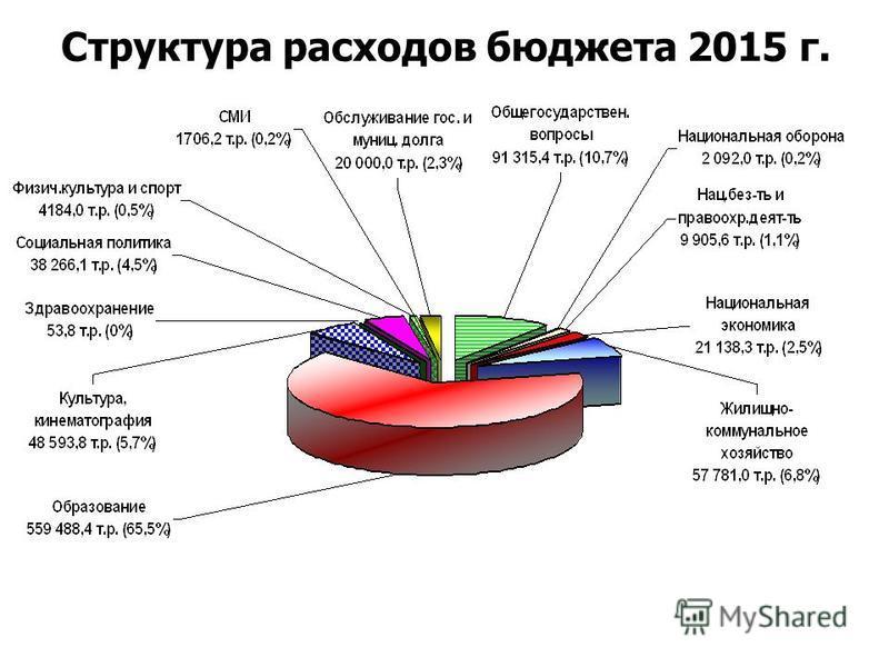 Структура расходов бюджета 2015 г.