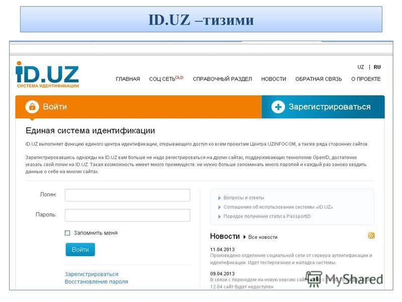 ID.UZ –тизими