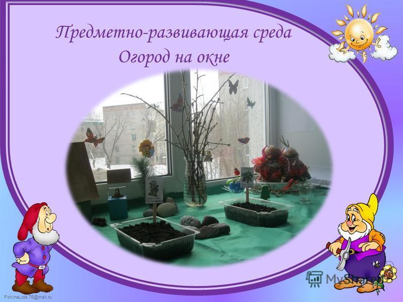 Предметно-развивающая среда Огород на окне