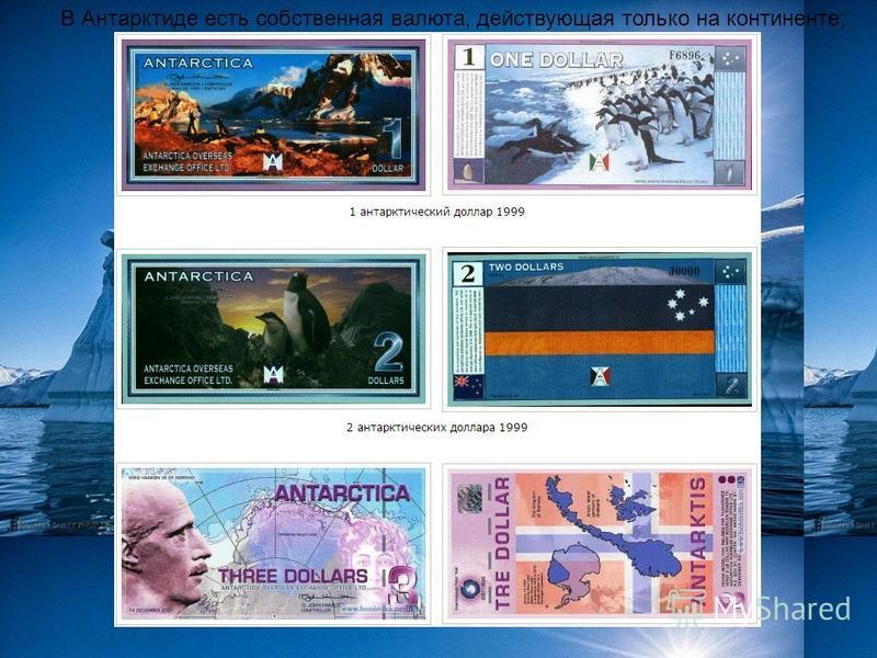 В Антарктиде есть собственная валюта, действующая только на континенте;