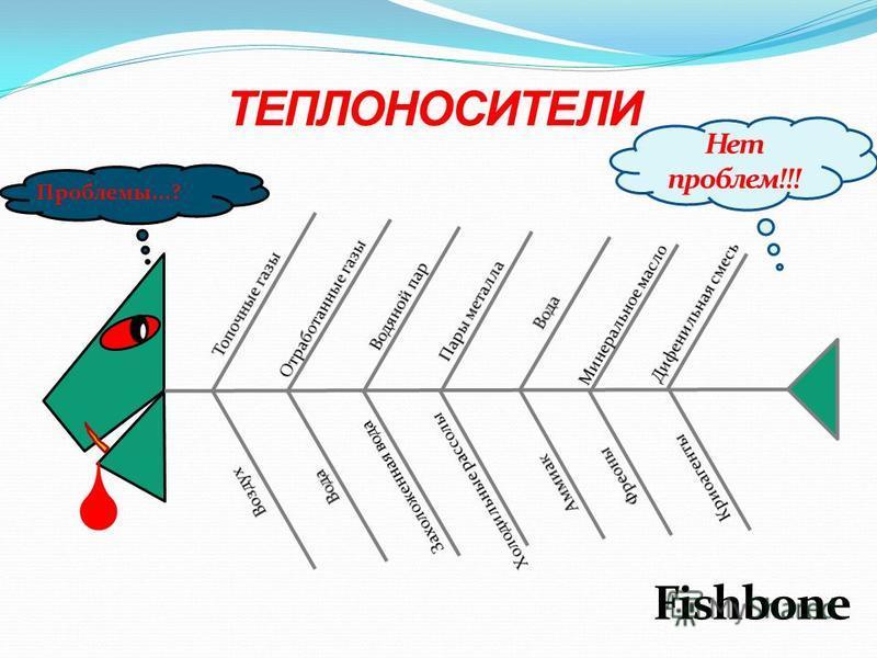 Проблемы...? ТЕПЛОНОСИТЕЛИ Fishbone Нет проблем!!!