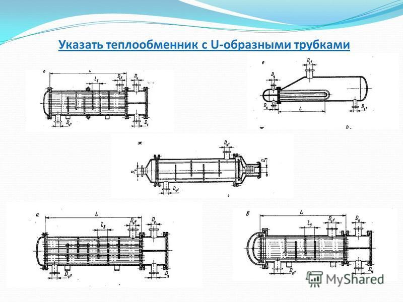 Указать теплообменник с U-образными трубками