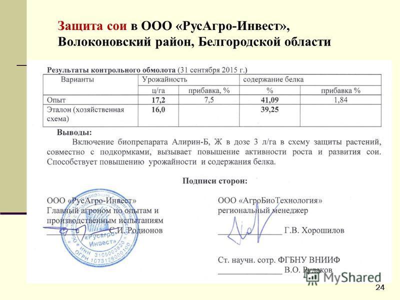 Защита сои в ООО «Рус Агро-Инвест», Волоконовский район, Белгородской области 24
