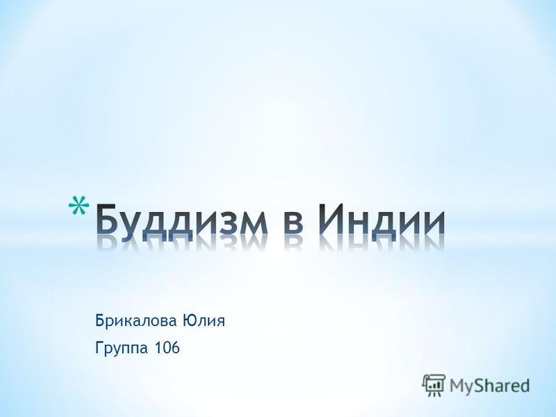 Брикалова Юлия Группа 106
