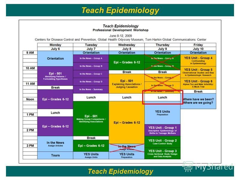109 Teach Epidemiology