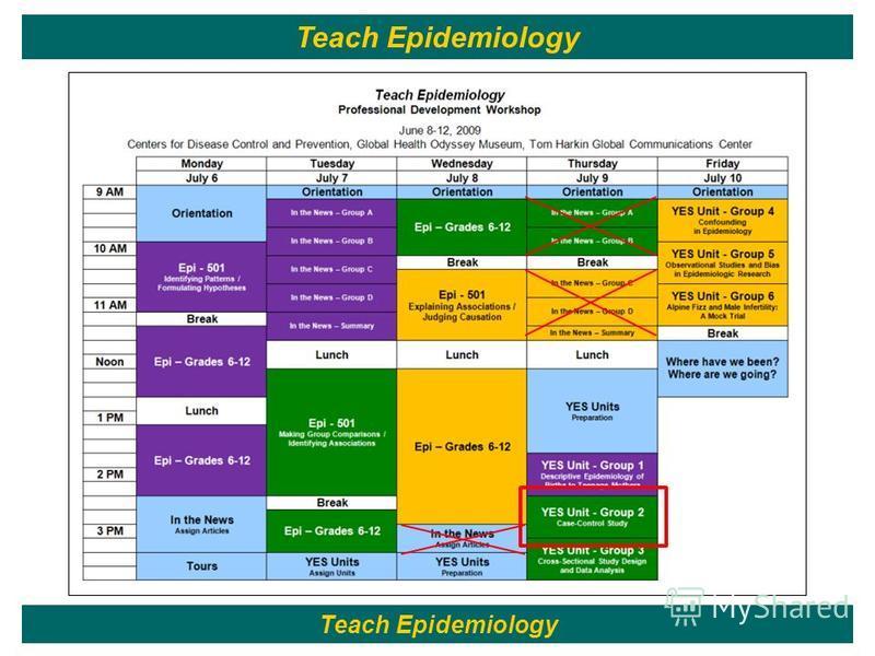 132 Teach Epidemiology