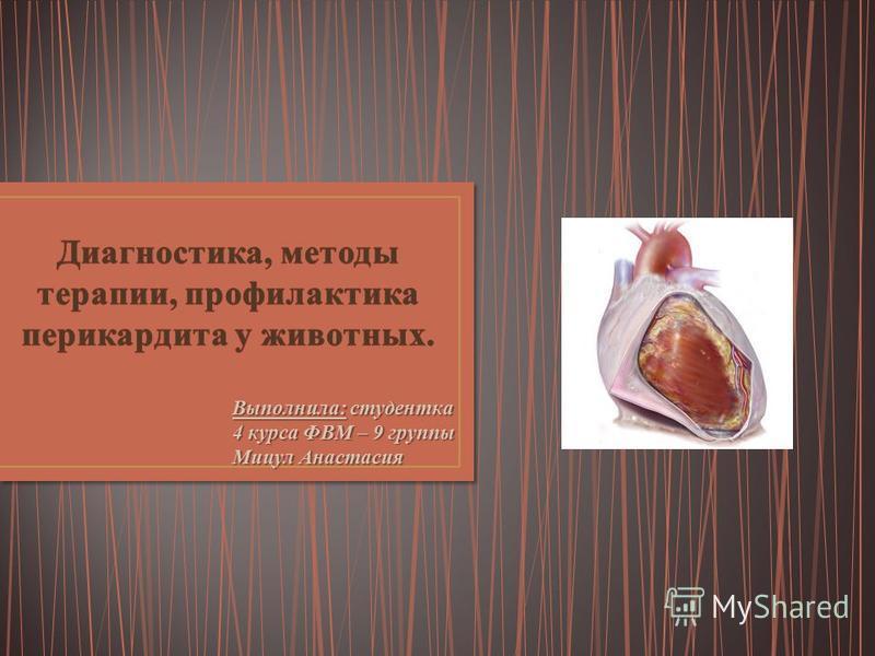 Выполнила: студентка 4 курса ФВМ – 9 группы Мицул Анастасия