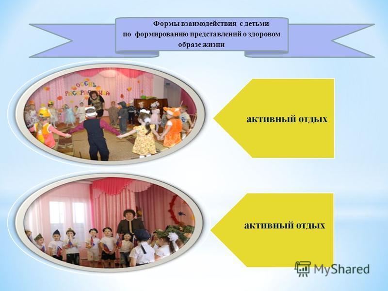 Формы взаимодействия с детьми по формированию представлений о здоровом образе жизни