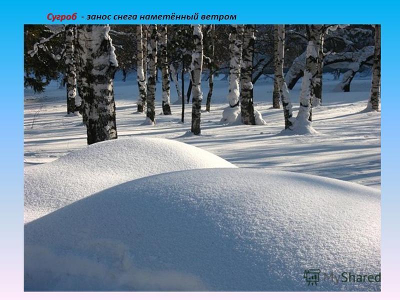 Сугроб Сугроб - занос снега наметённый ветром