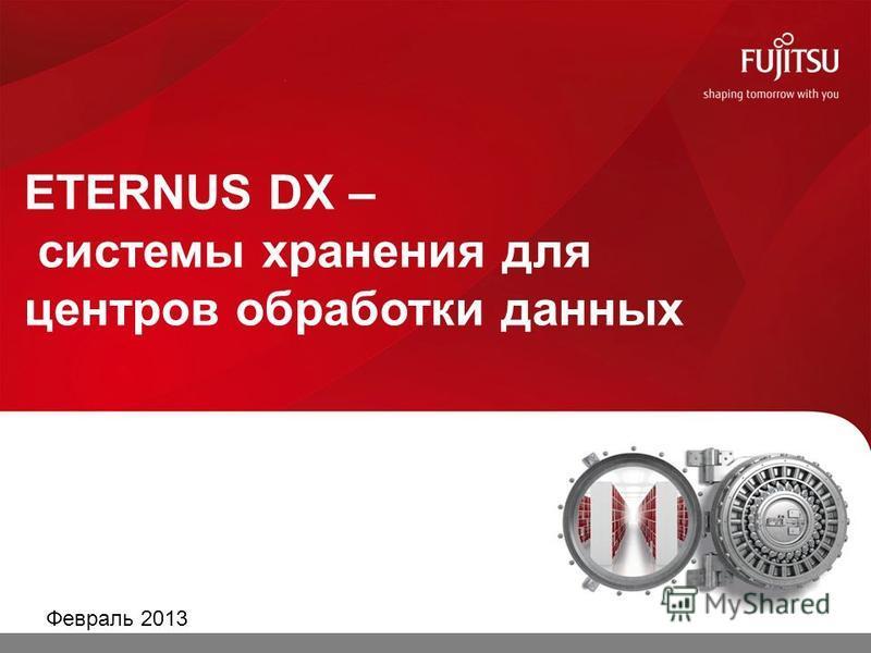 ETERNUS DX – системы хранения для центров обработки данных Февраль 2013 0