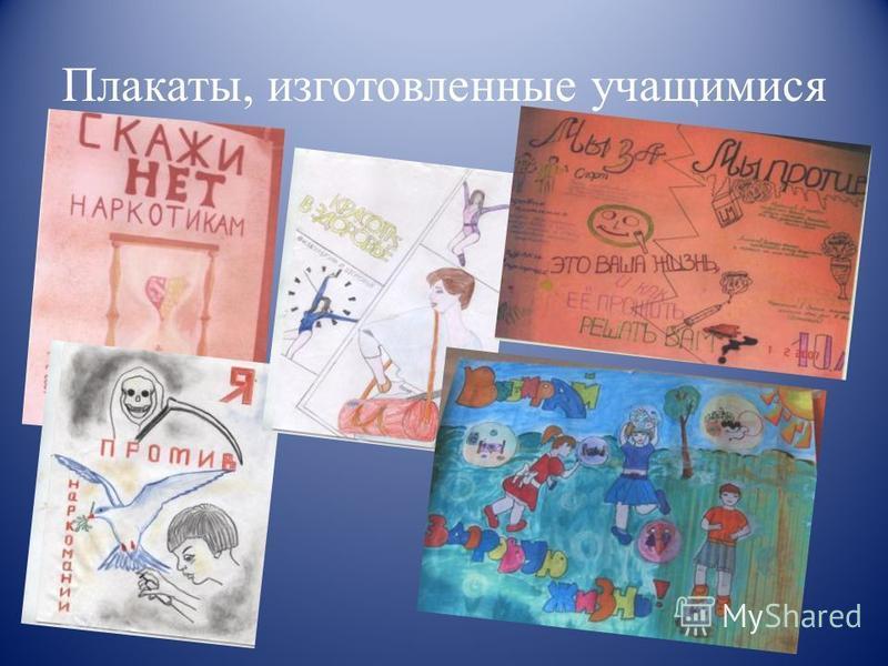 Плакаты, изготовленные учащимися