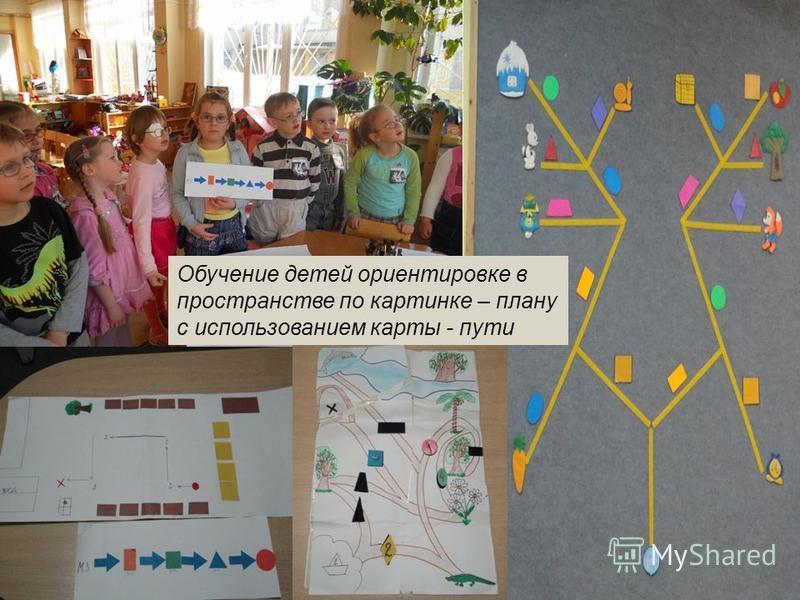Обучение детей ориентировке в пространстве по картинке – плану с использованием карты - пути