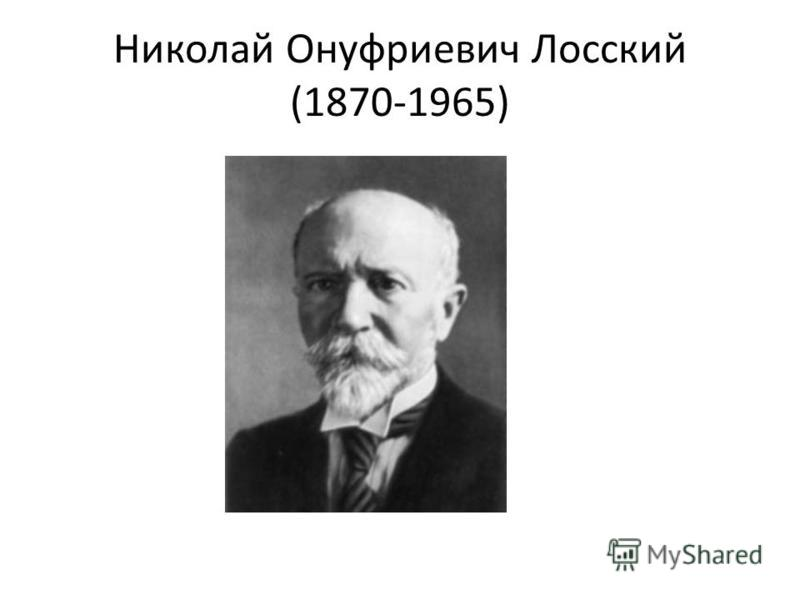 Николай Онуфриевич Лосский (1870-1965)