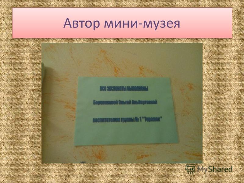 Автор мини-музея