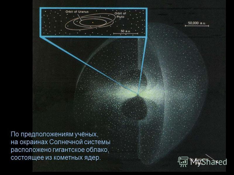 По предположениям учёных, на окраинах Солнечной системы расположено гигантское облако, состоящее из кометных ядер.