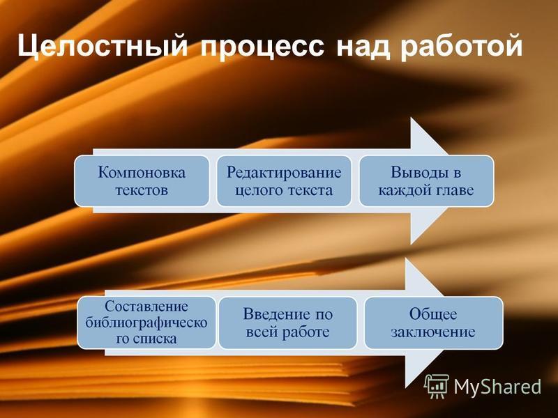 Целостный процесс над работой