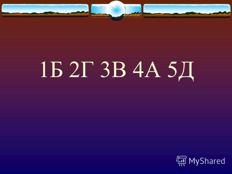 1Б 2Г 3В 4А 5Д