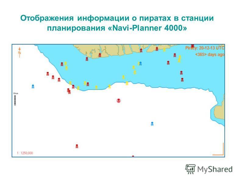 Отображения информации о пиратах в станции планирования «Navi-Planner 4000»