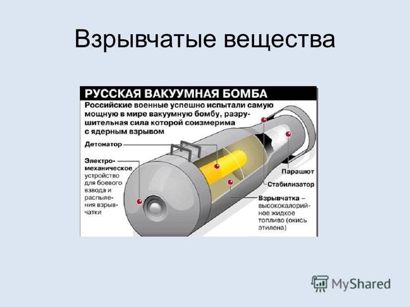 Взрывчатые вещества