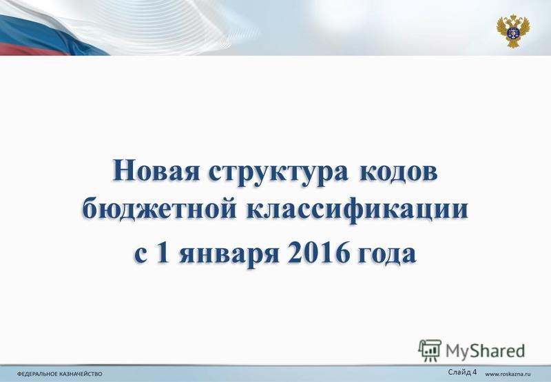 Новая структура кодов бюджетной классификации с 1 января 2016 года Новая структура кодов бюджетной классификации с 1 января 2016 года Слайд 4