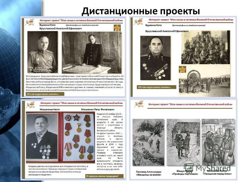 ProPowerPoint.Ru Дистанционные проекты