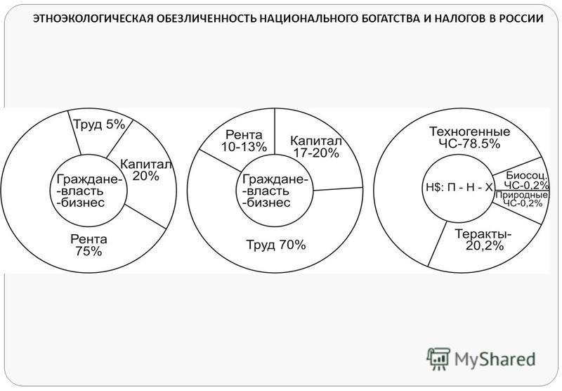 ЭТНОЭКОЛОГИЧЕСКАЯ ОБЕЗЛИЧЕННОСТЬ НАЦИОНАЛЬНОГО БОГАТСТВА И НАЛОГОВ В РОССИИ
